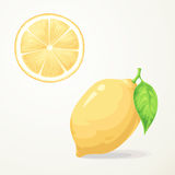 Fresh lemon with leave Stock Photo
