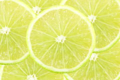 Fresh lemon lime citrus fruit slice Stock Photos