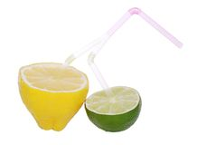 Fresh lemon and lime drink Royalty Free Stock Image
