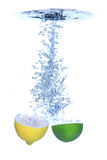 Fresh lemon and lime splash Royalty Free Stock Photo