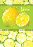 Fresh lemon menu Royalty Free Stock Photos