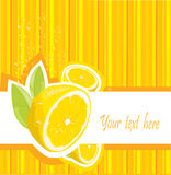 Fresh lemon menu Royalty Free Stock Images