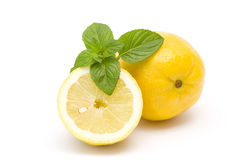 Fresh lemon and mint Royalty Free Stock Photos