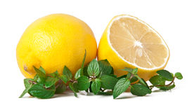 Fresh lemon and mint Stock Photo