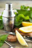 Fresh lemon and mint. Royalty Free Stock Photos