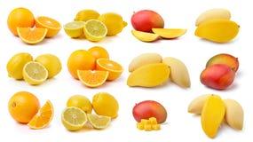 Fresh lemon, Orange fruit and mango Royalty Free Stock Photo
