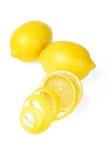 Fresh lemon and peel Royalty Free Stock Photography