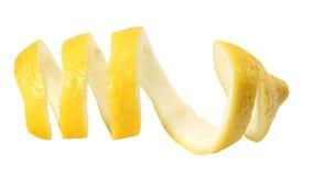 fresh lemon peel isolated on white background. healthy food stock photo