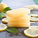Fresh lemon popsicles Royalty Free Stock Photography