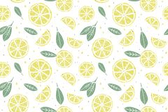 Fresh lemon seamless pattern royalty free illustration