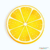 Fresh lemon slice icon on a white Royalty Free Stock Images