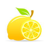Fresh lemon slice vector icon Stock Photo