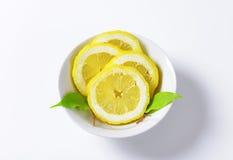 Fresh lemon slices Stock Photos