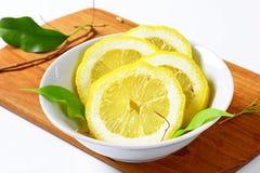 Fresh lemon slices Stock Image