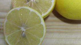 Fresh lemon slices stock video footage