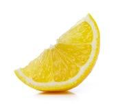 Fresh lemon slices isolated on white background Stock Images