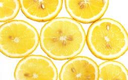 Fresh lemon slices pattern Stock Image