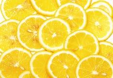 Fresh lemon slices pattern Stock Images