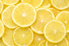 Free Fresh Lemon Slices Pattern Backgrond, Close Up Royalty Free Stock Images - 163577209