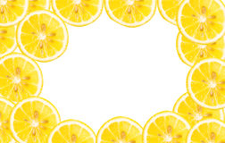 Fresh lemon slices pattern,background Stock Image