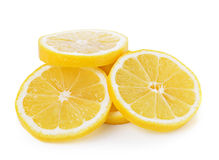 Fresh lemon slices  on white background Royalty Free Stock Photos
