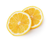 Fresh lemon slices on white background Stock Image