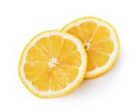 Fresh lemon slices on white background Stock Image