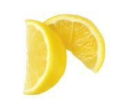 Fresh lemon slices. On white background Royalty Free Stock Images