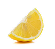 Fresh lemon slices  on white background Royalty Free Stock Photos