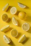 Fresh lemon slices Stock Images