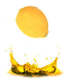 Fresh lemon splash Stock Photography