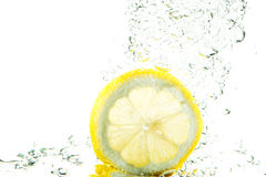 Fresh lemon splash Stock Images