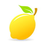 Fresh lemon vector icon Stock Photos
