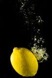 Fresh lemon in water Stock Photo