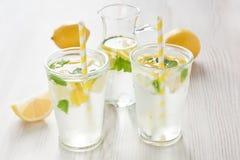 Fresh lemon water drink Royalty Free Stock Photo