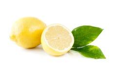 Fresh lemon on white royalty free stock photos