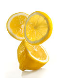 Fresh lemon on a white background Royalty Free Stock Photography
