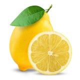 Fresh lemon. On white background royalty free stock images
