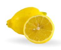Fresh lemon  on white background Royalty Free Stock Image