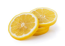 Fresh lemon on white background Stock Image