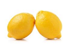 Fresh lemon on white background Royalty Free Stock Images