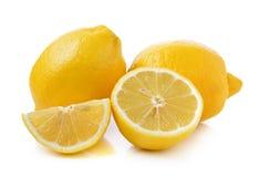 Fresh lemon on white background Stock Photo