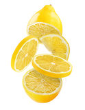 Fresh lemon white Royalty Free Stock Photography