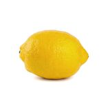 Fresh lemon with on a white background Stock Photos