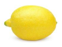 Fresh lemon on white Royalty Free Stock Image