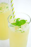 Fresh lemonade. In glass with mint leaf Stock Photo