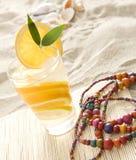 Fresh lemonade on the beach Stock Photos