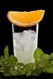 Fresh lemonade on black background Stock Photo