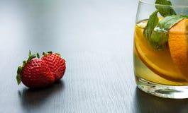 Fresh lemonade from a citrus. Royalty Free Stock Photo