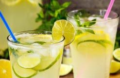 Fresh lemonade drink Stock Images